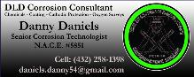 DLD Corrosion Consultant - Danny Daniels