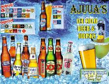 Ajuuas Drink Menu Trifold