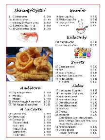 Bayseas Seafood Restaurant Menu pg3
