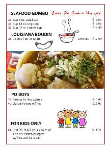 Bayseas Seafood Converse Restaurant Menu pg4