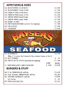Bayseas Seafood Converse Restaurant Menu pg5