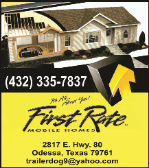 First Rate Mobile Homes Ad